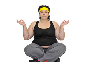Large Woman Yoga