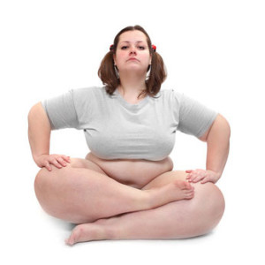 Obese Woman Yoga